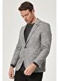 Beymen Business Comfort Fit Desenli Ceket 4B0420200005 Gri